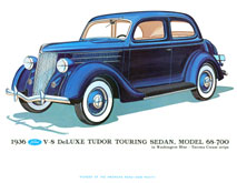 1936 Tudor Touring Sedan Print - Coffee Table Books